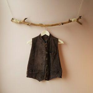 Vintage Harold's suede leather vest